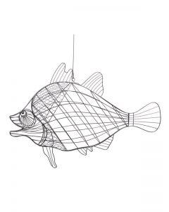 Draht-Fisch Nemo, grau