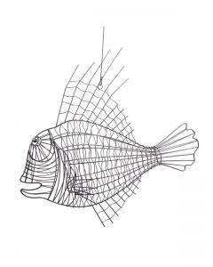 Draht-Fisch Moby, grau