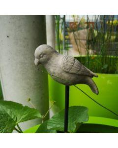 Vogel Sittich, Resin, für Metallstab geeignet