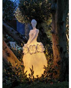 Blütenlicht Dame Amalia, klein, Kunststein