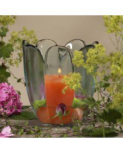 Windlicht / Vase Flora, Klarglas, 17x15 cm,