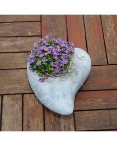 Gedenkherz zum bepflanzen, klein, Zementguss