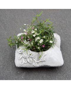 Gedenkkissen zum bepflanzen, klein, Zementguss
