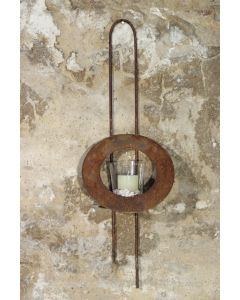 "Wandhalter ""CORONA"" inkl. Glas 0228, Metall"